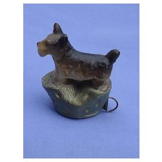 Occupied Japan Scottish terrier Scotty dog tape measure