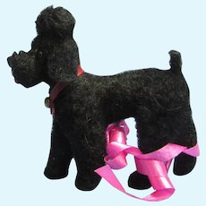 "black poodle salon dog Jumeau Bru Kestner companion Germany label 3"""