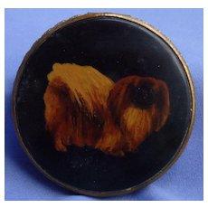 Pekingese Tibetan Spaniel OOAK hand painted dog compact