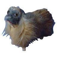 "antique fur Pekingese 4 French fashion doll 4"""