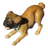 "bronze Pug Vienna Austria play bow 2"" doll house mini dog"