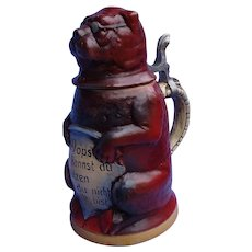 "8"" Pug mug Germany stein limited edition"