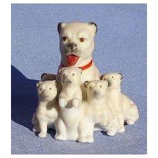 PUG mom 5 pups doll house