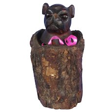 pug bulldog inkwell Black forest dog