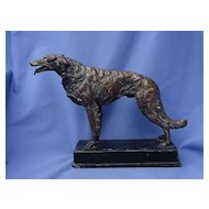 art deco 1920s bronze Borzoi 11""