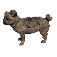 antique bronze Pug pen wipe Vienna Austria
