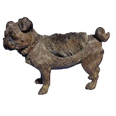 antique bronze Pug pen wipe Vienna Austria