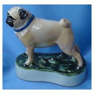 """Louisville stoneware Pug 6"""" dog decanter"""