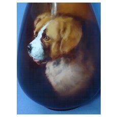 rare Rosenthal Landseer Saint  St. Bernard dog