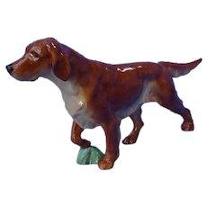 "1940 Irish Setter Royal Worcester England Doris Lindner  sporting dog 8"""