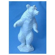 """1930s Rosenthal porcelain grizzly bear Germany 6"""""""