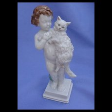 "Rosenthal Persian cat boy ball 6"""