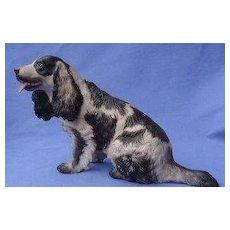 """1930 Rosenthal English setter Field Springer spaniel 9"""" dog Germany"""