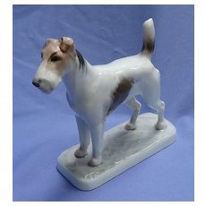 """1930 Rosenthal Wire Haired Fox terrier Diller Germany dog 5"""""""