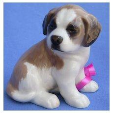 """1993 Saint St. Bernard Bing & Grondahl Denmark puppy dog 4"""""""