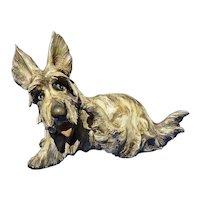 "Scottish Terrier A Borsato signed Wheaten Brindle Scotty dog Italy 7"""