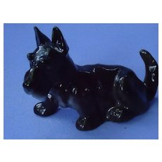 Scottish terrier Hutschenreuther Germany black Scotty dog