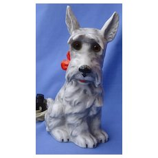 "Scottish terrier Scotty dog perfume lamp Goebel Germany 8"""