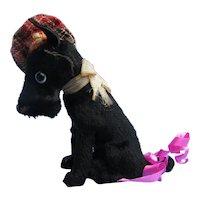 "antique Scottish terrier Scotty Fripon salon dog Bru Jumeau French fashion doll companion Germany label 4"""