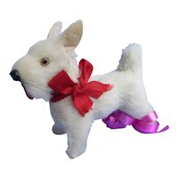 antique Scottish terrier Scotty Fripon salon dog Bru Jumeau French fashion doll companion Germany label