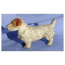 """bronze Sealyham  Cesky  terrier 4"""" Vienna Austria dog"""