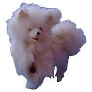 "Spitz Samoyed mechanical salon dog  French fashion doll 6"""