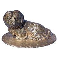 "Sterling silver Lhasa Apso Shih Tzu Maltese terrier dog 5"""