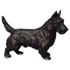 bronze Scottish terrier Scotty dog Austria 3""