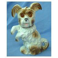 "1940s SKYE/SILKY/YORKSHIRE terrier Briard dog perfume lamp Germany 8"""