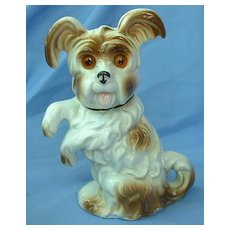 1940s SKYE/SILKY/YORKSHIRE terrier Briard dog perfume lamp Germany 8""
