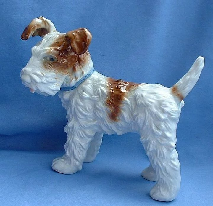 1940s Fox Terrier Jack Russell dog USZ Hutschenreuther Germany 8 ...