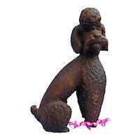 """Anri POODLE Italy 8"""" wood dog"""