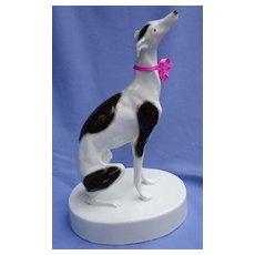 """1950 whippet Italian greyhound Goldscheider dog 11"""""""