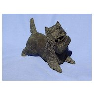 bronze West Highland Cairn terrier Jan 8/50