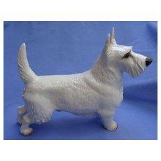 """Nymphenburg Scottish terrier white Scotty dog  Germany 9"""""""