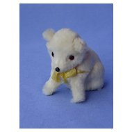 vintage white fur bear 4 fashion doll Germany