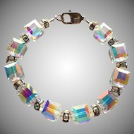 Dazzling ! Swarovski Crystal - Aurora Borealis - Cubed Bracelet