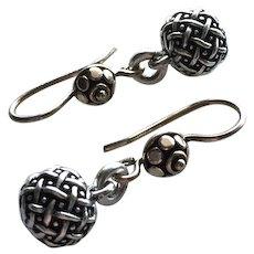 Bali and Style - Basket Weave - Dangle Earrings
