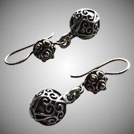 Bali and Style - Embossed Hearts - Dangle Earrings