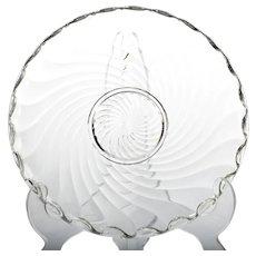 Fostoria Colony Elegant Glass Bowl Vintage Serving Dish Large Shallow Centerpiece