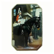 Vintage Fillerys Toffee Tin Featuring a Royal Cavalry Life Guard.