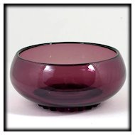 New Martinville Viking Princess Amethyst Art Glass Bowl Candy Dish Vintage