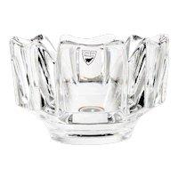 Vintage Orrefors Crystal Bowl Swedish Corona by Lars Hellsten Art Glass
