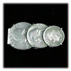 Liberty Coin Money Clip Quarter, Nickle, Dime