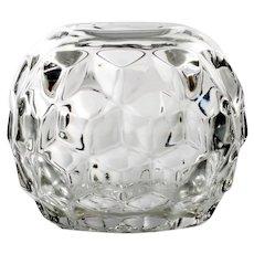Fostoria American Glass Rose Bowl Crystal Vase Vintage Elegant Glass