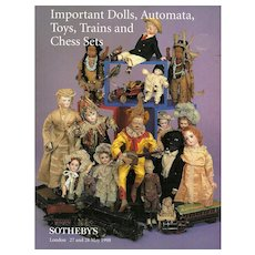 Sotheby's Catalog Dolls Automata Toys Trains Chess Sets London May 1998