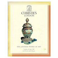 Christie's Catalog Fine Japanese Works of Art London June 23 1987 Vintage