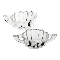 Heisey Crystolite Creamer and Sugar Bowl Elegant Glass Vintage