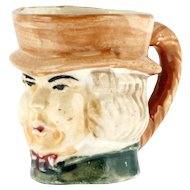 Miniature Character Mug Made in Japan Vintage Art Pottery Hand Painted