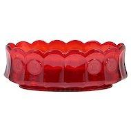 Fostoria Ruby Red Coin Oval Serving Bowl Vintage Elegant Glass